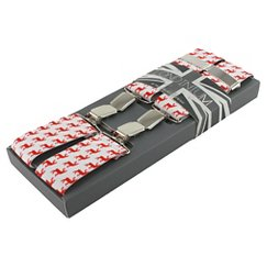 Men's Suspenders Red Reindeer - The British Belt Co.