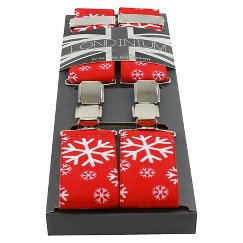 Men's Suspenders Red/White - The British Belt Co.