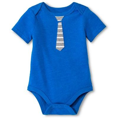 Baby Boys' Tie Print Bodysuit Blue 24M - Circo™