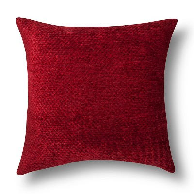 Chenille Throw Pillow - Red Oversize – Threshold™