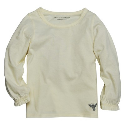 Burt's Bees Baby™ Girls' Long Sleeve T-Shirts Ivory 0-3M