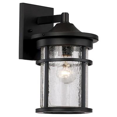 Bel Air Lighting Crackled Glass Outdoor Wall Light