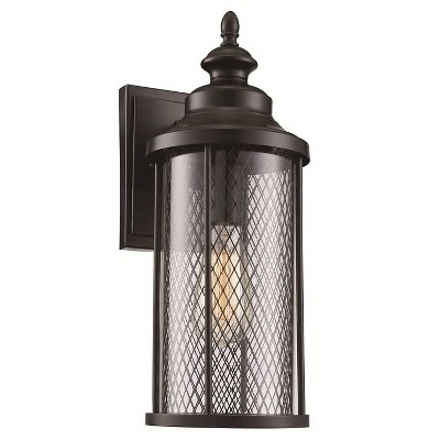 Bel Air Lighting Black Mesh Outdoor Wall Light