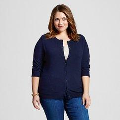 Women's Plus Size 3/4 Sleeve Favorite Cardigan - Merona™