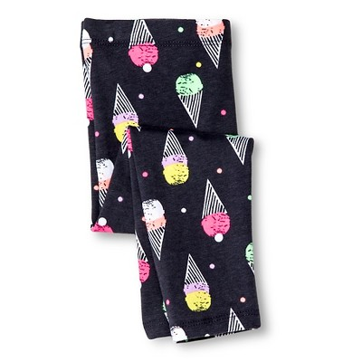 Baby Girls' Ice Cream Cone Legging Pant Gray 18M - Circo™