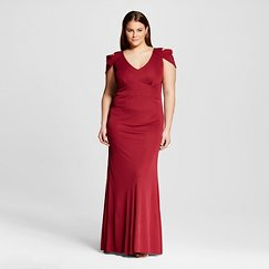 Women's Plus Size Triangle Sleeve Gown - ABS Collection