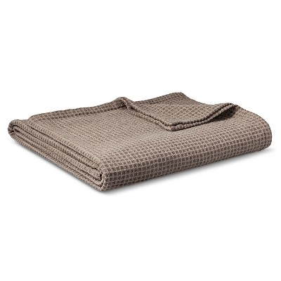 Chenille Blanket Gray (Twin) - Threshold™