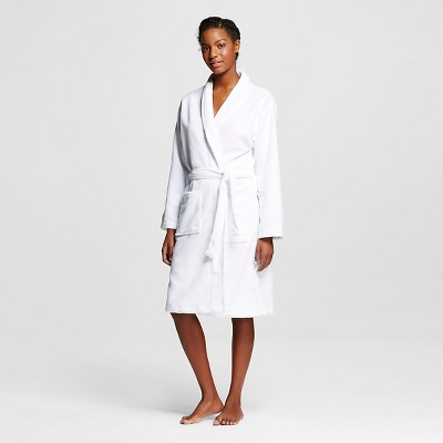 Hotel Spa® Women's French Terry Robe - White L/XL