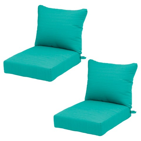 Outdoor Seat Cushion Turquoise Threshold™ Tar