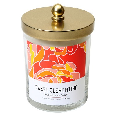 SOHO Brights Lidded Glass Candle Sweet Clementine - 8.6 oz