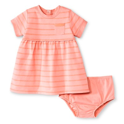 Baby Girls' Stripe Dress Pink 0-3M - Cherokee®