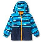 Toddler Boys' Colorblock Windbreaker Jacket with Hood Navy 4T - Cherokee®