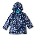 Baby Boys' Anchor Print Raincoat with Hood Navy - Cherokee™