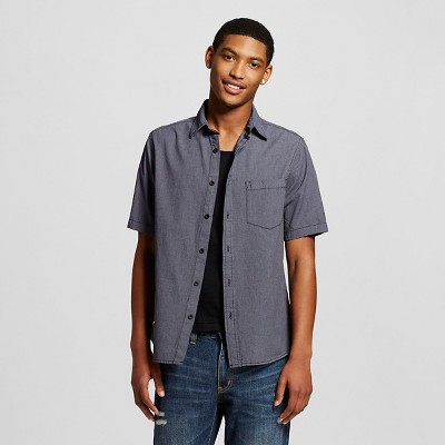 Men's Short Sleeve Woven Grey - Mossimo Supply Co. M