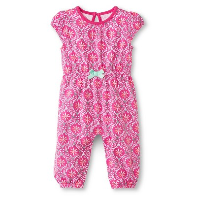 Baby Girls' Romper One Piece Pink Floral 0-3M - Cherokee®