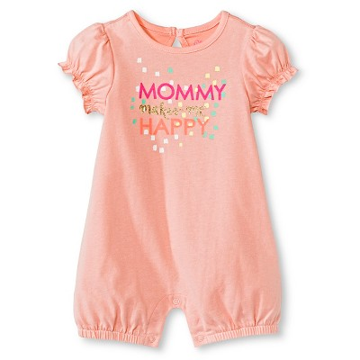 Baby Girls' Romper One Piece Day Dream Pink Newborn - Cherokee®