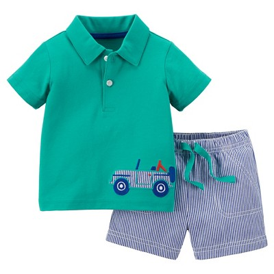 Just One You™Made by Carter's® Newborn Boys' 2 Piece Short Set - Teal 6M