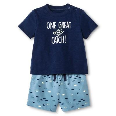 Baby Boys' 2 Piece Great Catch Set Blue - Cherokee® 0-3 M