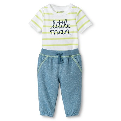 Baby Boys' 2 Piece Little Man Set Green 0-3M - Cherokee®