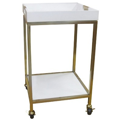 "Bar Cart with Square Trays White 18""x18"" - Threshold™"