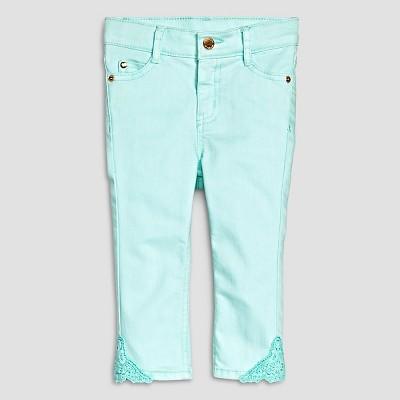 Female Jeans Genuine Kids Bleached Aqua 12  MONTHS