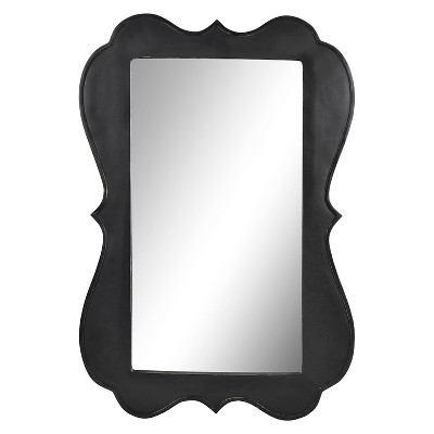 16x24in. Black Beveled and Scalloped Wall Mirror