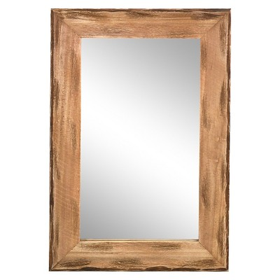 16x24in. Distressed Pine Wood Framed Wall Mirror