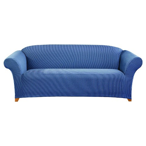 Sure Fit Stretch Ticking Stripe Sofa Slipcover Product Details Page