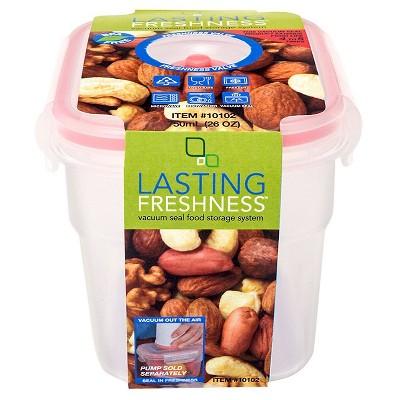 Lasting Freshness Vacuum Seal Food Storage System Rectangular 26oz