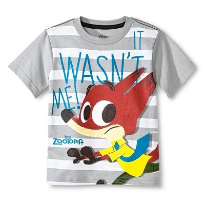 Toddler Boys' Zootopia T-Shirt - Grey 3T