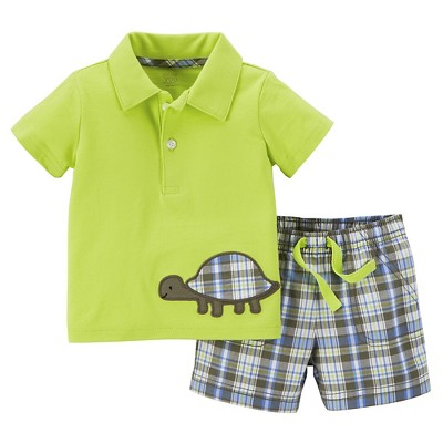 Just One You™Made by Carter's® Newborn Boys' 2 Piece Pant Set - Lime 3M