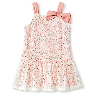 Baby Girls' Lace Dress Cream 18M - Cherokee®