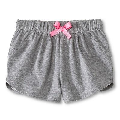 Newborn Girls' Shorts - Gray 3-6M