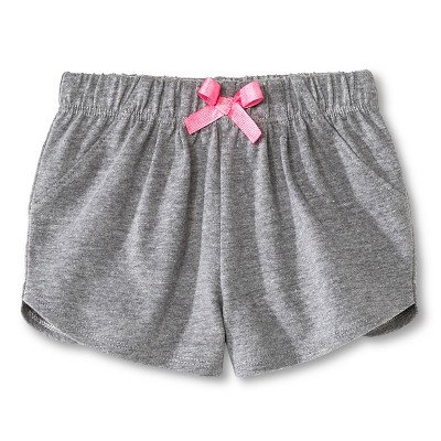 Newborn Girls' Shorts - Gray 6-9M