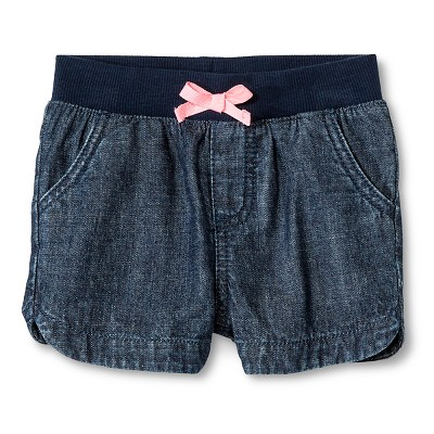 Baby Girls' Jean Short Dark Wash 12M - Cherokee®