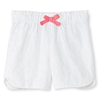 Baby Girls' Dobby Eyelet Short White 18M - Cherokee®