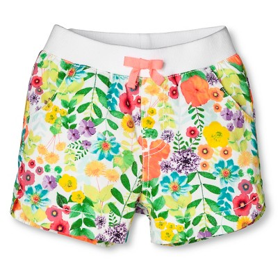 Baby Girls' Floral Chino Short Pink Floral 12M - Cherokee®