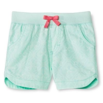 Baby Girls' Twill Chino Short Green 18M - Cherokee®