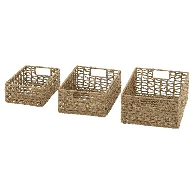 Wonderfully Crafted set of 3 Sea Grass Baskets