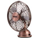Holmes® Metal Desk Fan, USB Connected, Small, Bronze (HNF0466-CT)