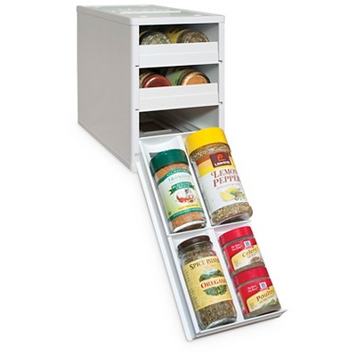 YouCopia MiniStack® 12 Bottle Spice and Vitamin Organizer - White