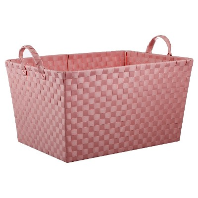 Woven Storage Bin Rectangular Pink - Pillowfort™