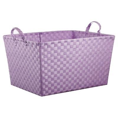 Woven Storage Bin Rectangular Purple - Pillowfort™