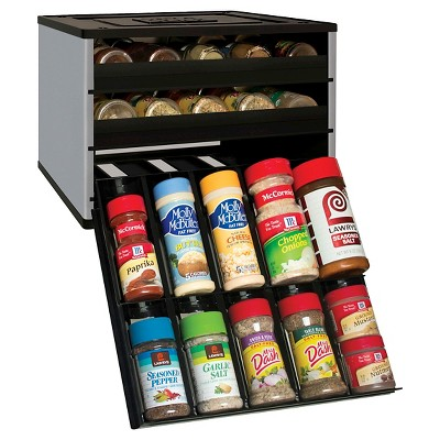 YouCopia Chef's Edition SpiceStack® 30 Bottle Spice Organizer - Silver