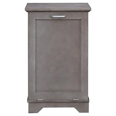 Threshold™ Wood Hamper - Grey