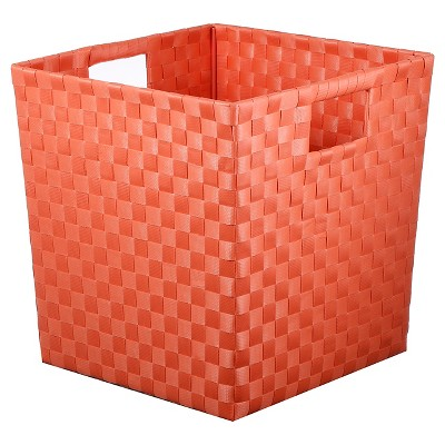 Woven Storage Bin Small Coral - Pillowfort™