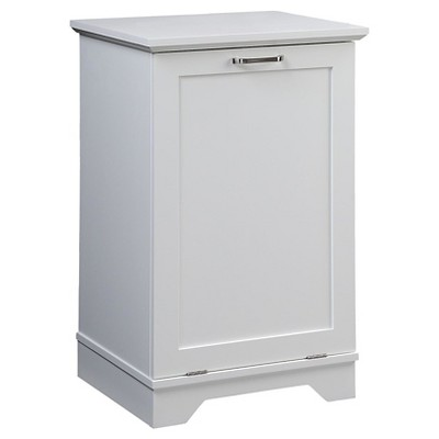 Threshold™ Wood Hamper - White
