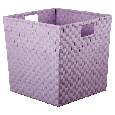 Woven Storage Bin Large Purple - Pillowfort™