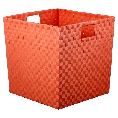 Woven Storage Bin Large Coral - Pillowfort™