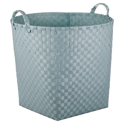 Woven Floor Bin Round Aqua - Pillowfort™